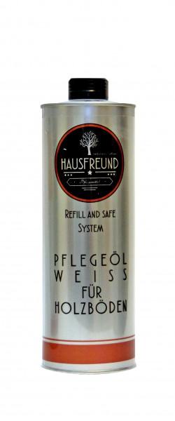 Hausfreund Pflegeöl Weiß für Holzböden